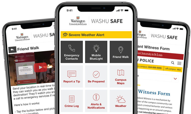 NEW Safety Announcement: WASHU Safe App